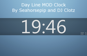 Day Line MOD Clock by Seahorsepip