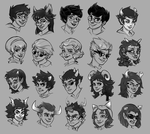 Homestuck Cast by dizzyclown