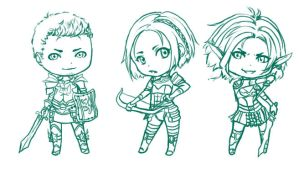 Dragon Age Origins - Chibis by Lyshantia
