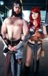 Red Sonja and Conan by SafiBear