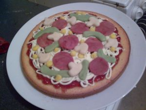 PIZZA CAKE :O by ~AshFantastic