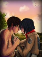 [Eren x Mikasa] Don't worry..I'm fine by xXMarilliaXx
