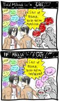 SnK: If Mikasa is a GUY by VulpineNinja