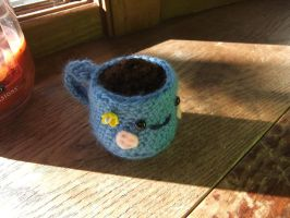 Crocheted Java Cup by Mickeycricky