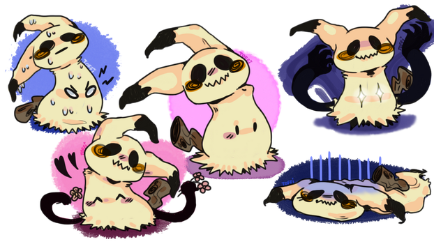 Mimikyu doodles by penguin003