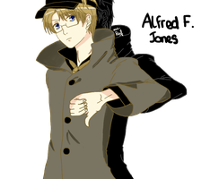 Hetalia : America Thumbs Down by Raveirre