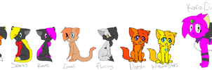 Most of Emily's Many Charries by Spywolfie3000