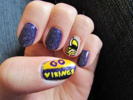 Vikings Nails by QueenAliceOfAwesome