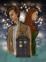 Eleventh Doctor Who and Amy Pond by photon-nmo