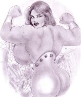 Mega muscle giantess by POWER-BEAUTIES