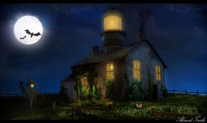 LightHouse Home Halloween Mood :) by AhmadTurk
