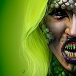 Toxic Mermaid [GlamAndGore Fan art] by JulietGarciaArt