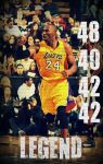 Kobe Bryant 24 Legend by Swish41