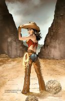 Wonder Woman Cowgirl - Commission by RexLokus