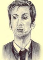 10th Doctor - Ballpoint by ShadowSeason
