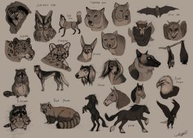 Animal Sketches - Part 2 by Autlaw