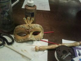 Musical Mask WIP by itbeMacKenzie
