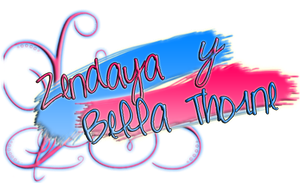Bella Thorne y Zendaya PNG Name by BellaThorneAlways
