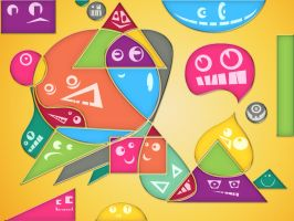 Colorful Geometric Faces by rasulh