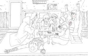 Naruto-RTN Boy's Poker Game Lineart by VietBBoyTobi