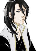 Drawing for a friend: Byakuya by kimchinicky