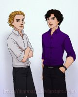 Magnus and Sherlock by alanna11