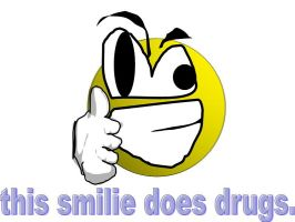 this smilie does drugs by haveacookie