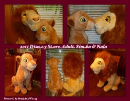 2011 Disney Store Adult Simba And Nala by DoloAndElectrik