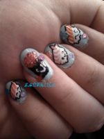 Sushi Nails With Faces by SoCUTEicleNails