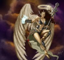 Warrior Angel - Magic The Gathering Fan Art by annaluci