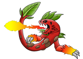 Potentially new fiery pokemon by KingofAnime-KoA