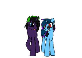 AAAA~~! Spark and Iceica As Ponies! by Spark-The-Hedgewolf