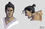 Samurai Jack Head Practice thingy by RoslynnSommers