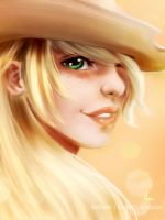 Humanized - Applejack by riotfaerie