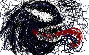 Venom Scribble Sketch by thelincdesign