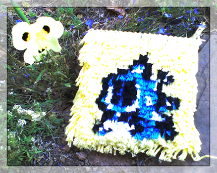 Bubble Bobble Mini Wall Rug by nintentofu