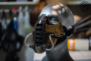 Retrogression - Cyberpunk dystopian mask by TwoHornsUnited