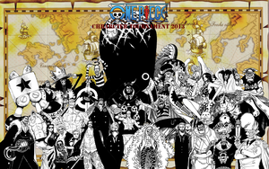 one piece character tournament 2013 1st round wins by DOR20