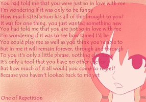 One of Repetition by desi-chan97