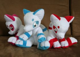 Fox Group Pic by Yukamina-Plushies
