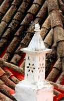 white chimney, Portugal by Shreever