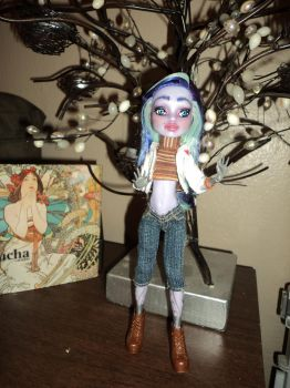 OOAK Monster High Repaint: Twyla 3 by jlaynaeb