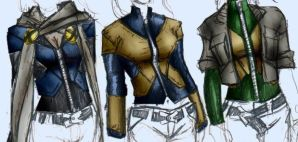 X-Men Costume concepts 1 by mjt423