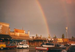 Rainbows over West Yellowstone by uglygosling