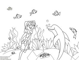 Under the Sea Lineart by Karannah