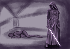 Revan and Bastila WIP by kaons