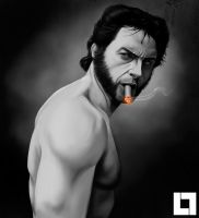 The Wolverine - Hugh Jackman by larsloenstrup