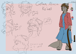 Among The Anthros: Captain Ko'well Design Sheet by Wolfbaloo