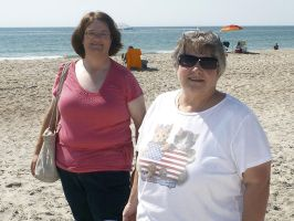 Mom and Me at the Beach by usedbooks