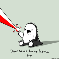Dinosaur Facts - Lasers by DeathByStraws